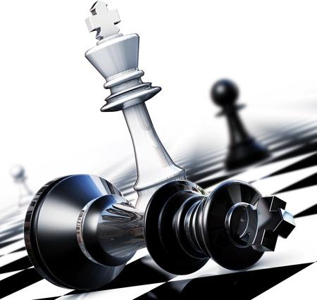 Chess winner concept