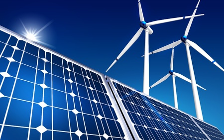 warmness: green energy concept