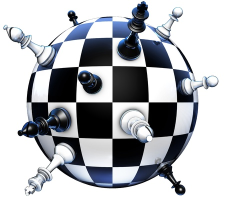 strategies: politics concept on chess
