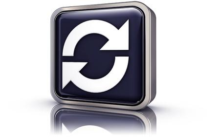 sync: sync icon Stock Photo