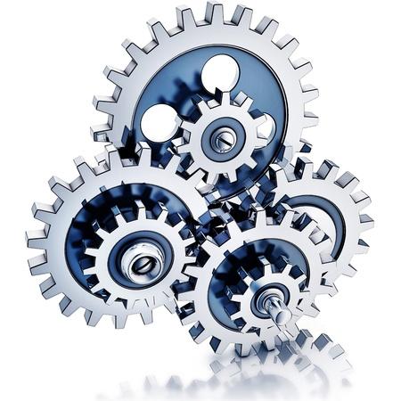 enhance: gears illustration Stock Photo