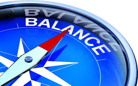contentedness: compass the balance icon