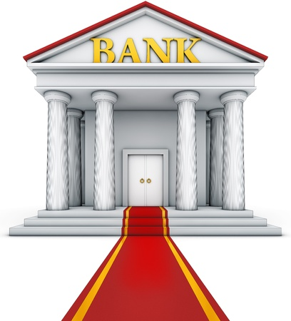illustration of an bank building