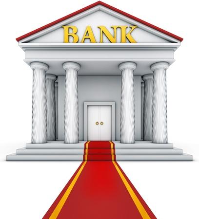 bank building: illustration of an bank building