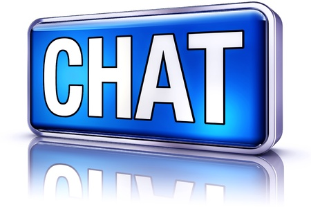 live on air: chat room Stock Photo
