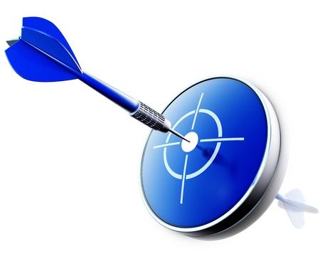 flèche double: dard bleu Banque d'images