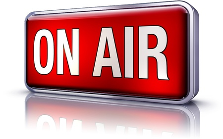 on air icon Stock Photo