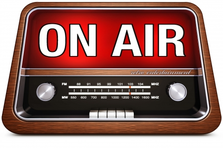 live on air: retro radio with on air icon Stock Photo