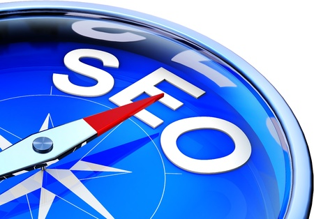 SEO compass Stock Photo - 21087706