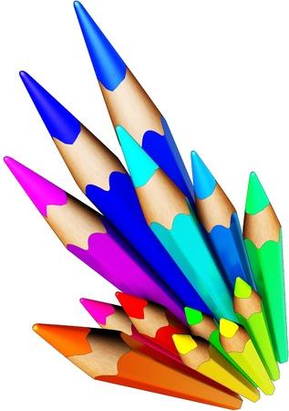 screen printing: color pencils
