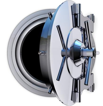 money vault: bank vault