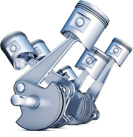crankshaft: engine Stock Photo