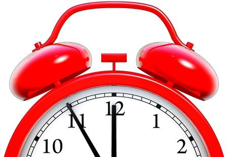 ultimatum: red clock Stock Photo