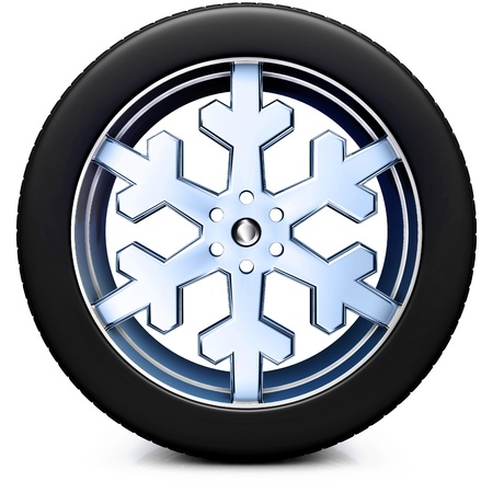 winter road: snow tire