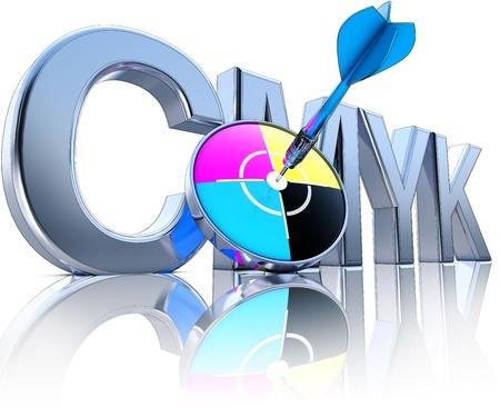 cmyk concept Stock Photo