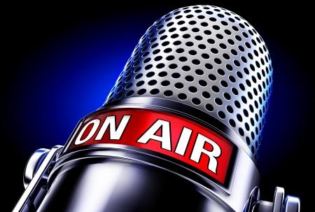 microfono de radio: en el aire