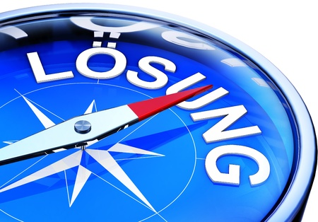 solution compass Stock Photo