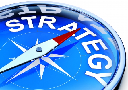 compass with strategy icon Stock Photo