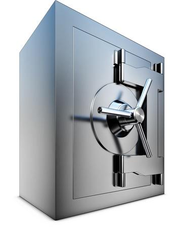safe investment: bank vault