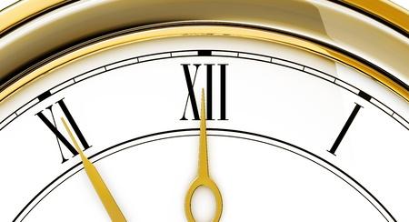 ultimatum: vintage clock Stock Photo