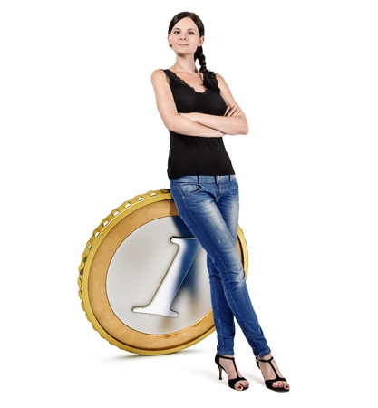 better price: business woman Stock Photo