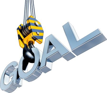 crane with a goal icon photo