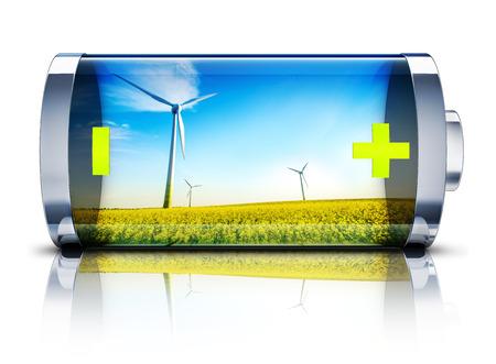 ahorro energia: energ?a verde Foto de archivo