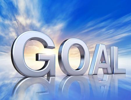 goal icon under the sky photo