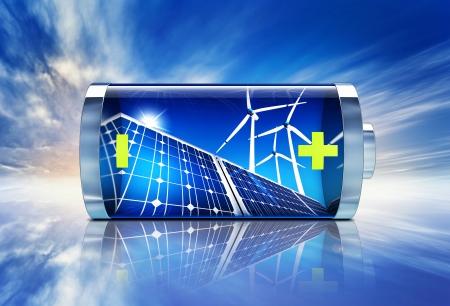 erneuerbar: Batterie