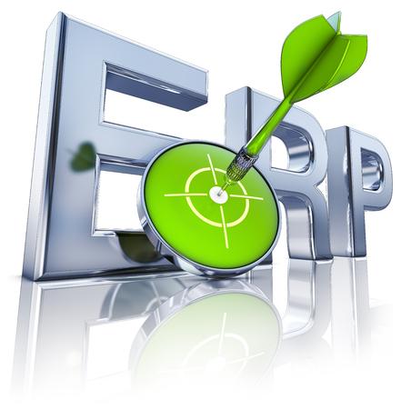 erp: ERP icon Stock Photo