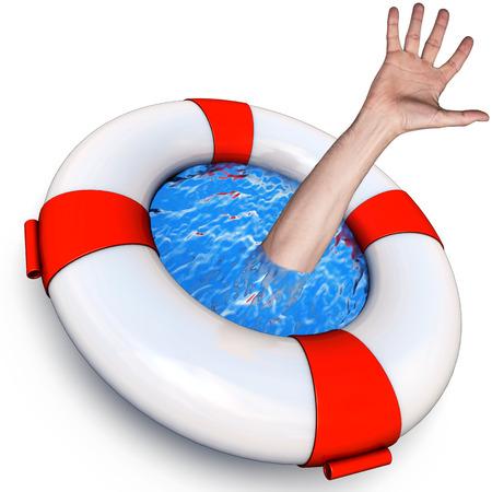 ahogarse: concepto de rescate
