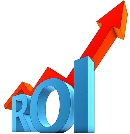in aumento: ROI icono Foto de archivo