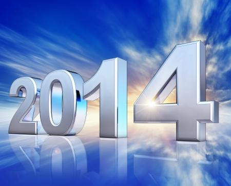 upturn: 2014 Stock Photo