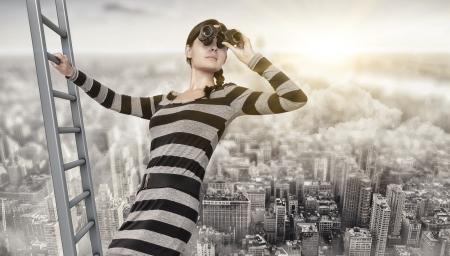 vision futuro: visi?n general  Foto de archivo