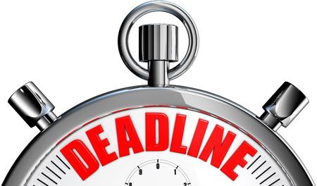 deadline Фото со стока