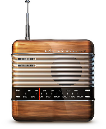 radio beams: retro radio icon