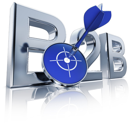 sales process: B2B icon Stock Photo