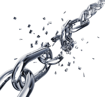 breaking free: broken chain