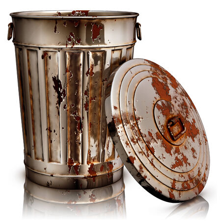 garbage can Stock Photo - 24533567