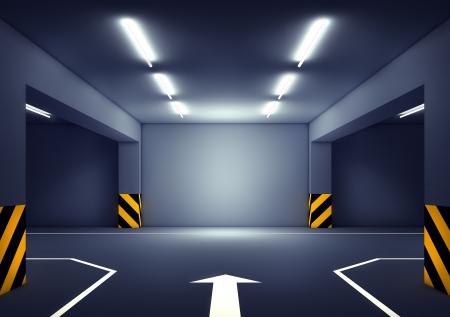 Garage Hintergrund Standard-Bild - 24534872