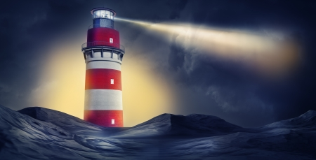 night vision: lighthouse