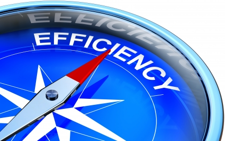 better chances: efficiency word inside a compass Stock Photo