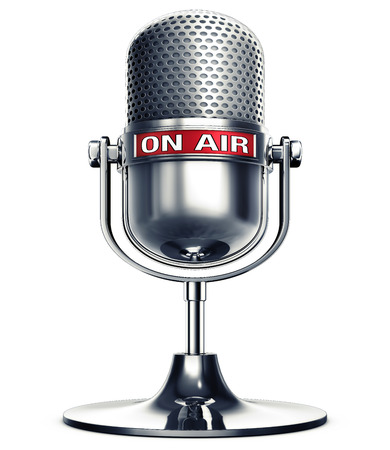 op lucht microfoon Stockfoto