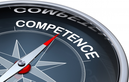 competent: competence Stock Photo