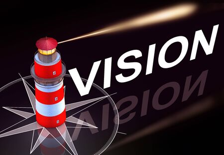 lighthouse and a vision icon photo