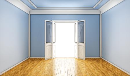 salvation: open door Stock Photo