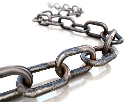 rusty chain: chain Stock Photo