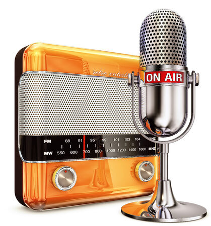 radio beams: ON AIR microphone