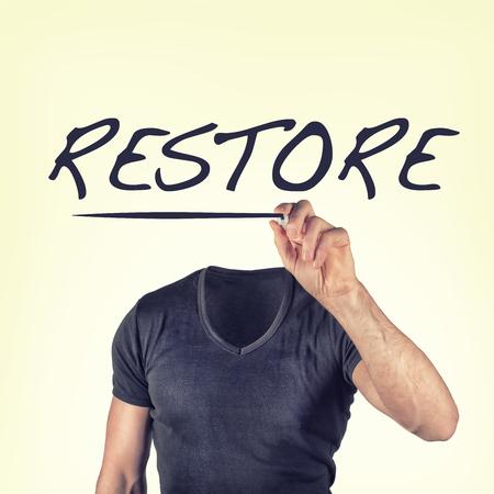 restart: restore concept
