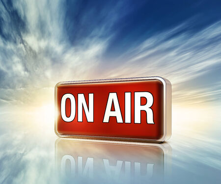 live on air: on air icon Stock Photo